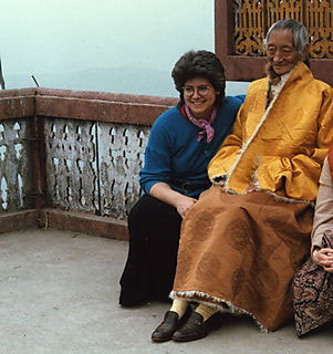 Liza with H.E. Kalu Rinpoche