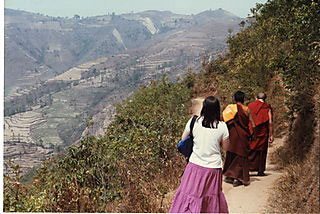 Impromptu trek with Trangu Rinpoche, outside Darjeeling