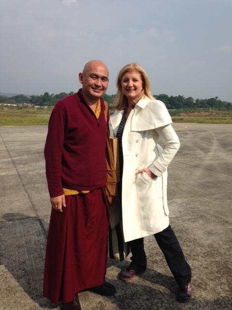 Lover Lama Tenzin with Arianna Huffington