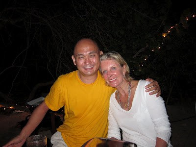 At Necker Island. The Lover Lama with his then girlfriend's mother, Georgiana Bronfman