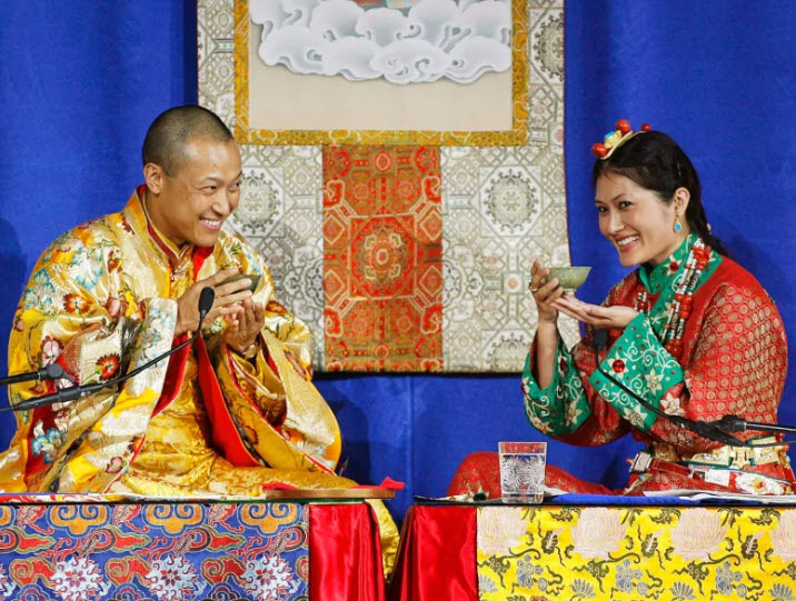 Sakyong Mipham Rinpoche and his wife Princess Tseyang Palmo pictured at their wedding in Halifax in 2006. Multiple unnamed women accused Mipham of sexual misconduct in a report last month. (The Canadian Press/Andrew Vaughan)