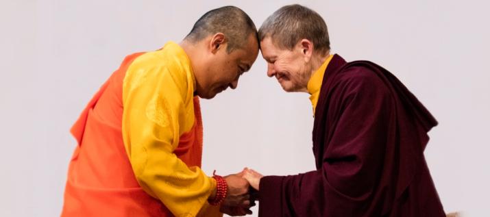 Sakyong Mipham Rinpoche with Ani Pema Chödrön. From sakyong.com